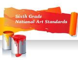 Sixth Grade National Core Art Standards Assessment Checklists