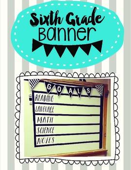 Sixth Grade Pennant Banner
