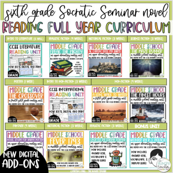 Sixth Grade Reading Curriculum with Reading Units -All Genres