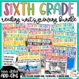 Sixth Grade Reading Unit Bundle *Growing Bundle*