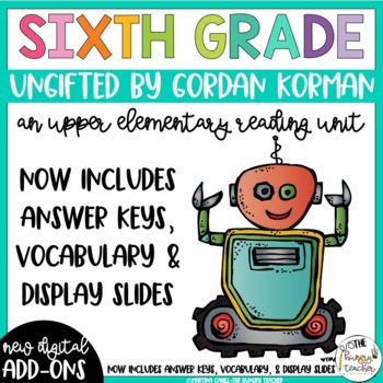 Sixth Grade Reading Unit - Ungifted