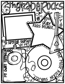 Sixth Grade Rocks! Poster: A Rockin' Back to School Ice Breaker Activity