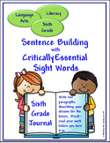 Sight Words for Sentence Building (Sixth)