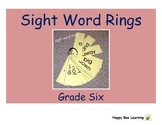 Sixth Grade Sight Word Rings