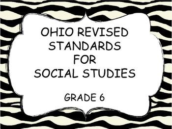 Sixth Grade Social Studies Ohio Revised Standards, Zebra border