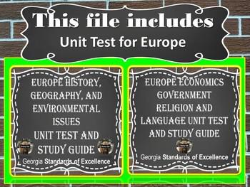 Sixth Grade Social Studies Unit Test and Study Guide Bundle