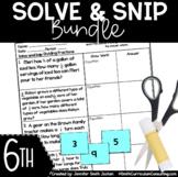 Sixth Grade Solve and Snips® Bundle - Interactive Math Wor