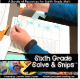 Sixth Grade Solve and Snips® Bundle - Interactive Math Wor