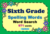 Sixth Grade Spelling Words Word Search