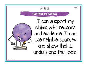 """Sixth Grade Standards - All Subjects """"I Can"""" Posters & Statement Cards"""
