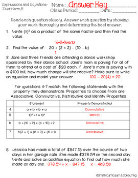 Sixth Grade Math Review Standards Based Assessments & Item Analysis