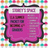 Sixth Grade Summer Packet (ELA)