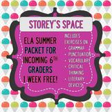 Sixth Grade Summer Packet (ELA) - FREE WEEK!