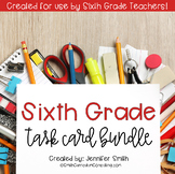Sixth Grade Math Task Card Bundle