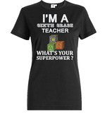 Sixth Grade Teacher what is your Superpower, Printable T shirt design gift
