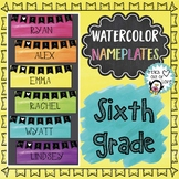 Sixth Grade Nameplates