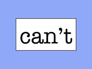 Sixth Grade Word Wall - No Excuse Words (Editable)