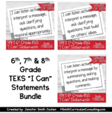 Sixth, Seventh, and Eighth Grade ELA TEKS I Can Statements