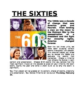 Sixties Timeline Project