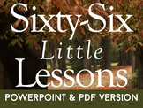Sixty-Six Little Lessons - both PDF and PPT