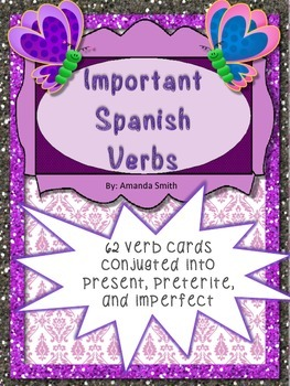 Sixty Two Spanish Verb Conjugation Flashcards