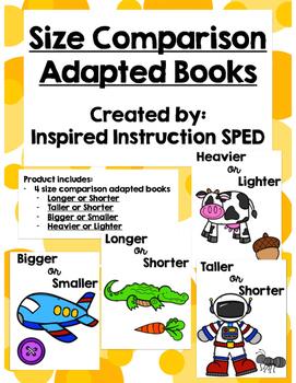 Size Comparison Adapted Books