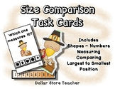 Size Comparison Task Cards / Clip Cards ~ Preschool ~ Than