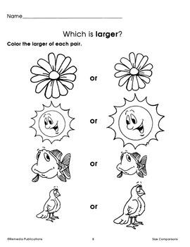 Size Comparisons: Beginning Thinking Skills