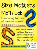Size Matters!  A Math Measurement Lab Comparing Two Sizes of Gummy Worms