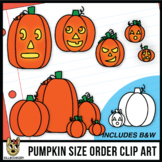 Size Order Clip Art: Pumpkins and Jack-O'-Lanterns