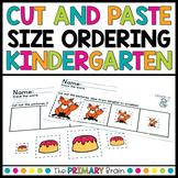 Size Ordering Cut and Paste Worksheets for Kindergarten