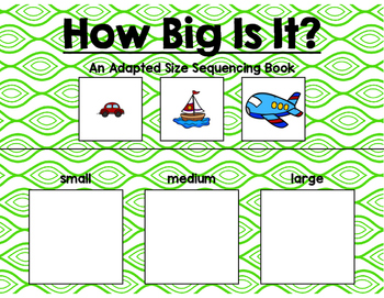 Size Sequencing Adapted Books