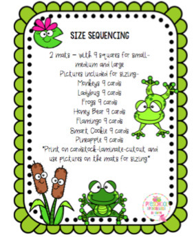 Size Sequencing Mats