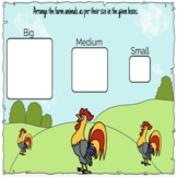 Size Sorting Activity with Farm Animals - Boom Cards™