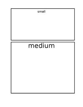 Size Sorting File Folder