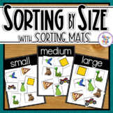 Size Sorting Mats for small, medium and large with sorting pictures