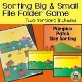 Size Sorting Pumpkin Patch File Folder Game