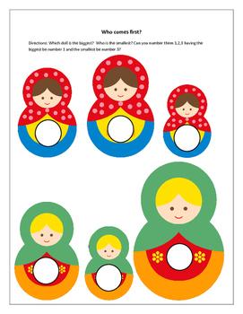 Size Sorting, Russian Nesting Dolls