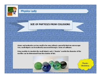 Size of Particles from Collisions