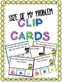 Size of Problem Clip Cards