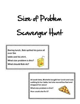 Size of Problem Scavenger Hunt