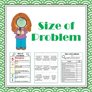 Size of Problem discussion cards and activity