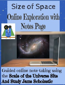 Size of Space Exploration and Note Taking Sheet