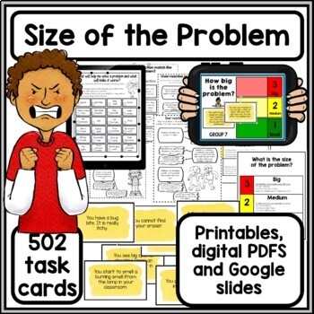 Size of the Problem 504 Task Cards- Social and Problem Solving Skills for Autism