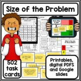 Size of the problem worksheets activities and Task cards |