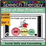 Boom Cards™ Speech Therapy Size of the Problem Activities