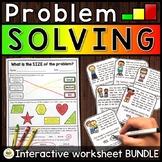 Problem Solving Activities (INTERACTIVE Emotional Regulation Worksheets)