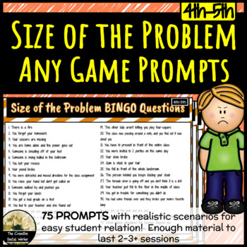 Size of the Problem Bingo 4th-5th