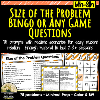 Size of the Problem Bingo or Any Game Questions
