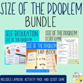 Size of the Problem Counseling Bundle Lap Book Activity Pack and Scoot Game